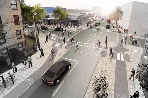 Blackhorse junction Forest Road visualisation