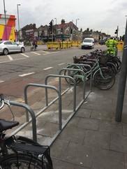 Blackhorse junction temporary cycle racks