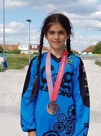 London Youth Games Bronze BMX medal winners Nina 290619