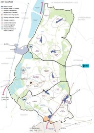 Draft Local Plan map of whole borough split into three areas