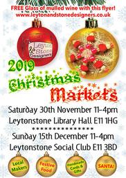 Leyton and Stone Christmas Market leaflet 2019
