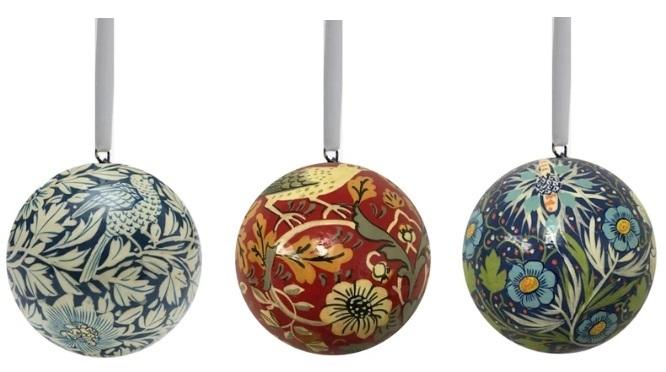 William Morris Gallery Christmas baubles