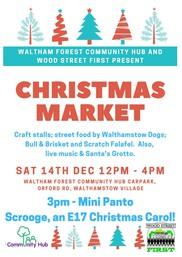 Walthamstow Community Hub Market December 2019 poster