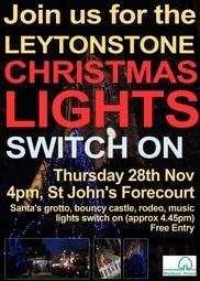 Leytonstone Christmas Lights switch on 2019
