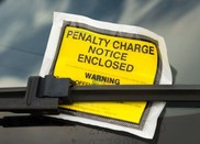 Penalty Charge Notice PCN on vehicle windscreen