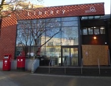Walthamstow Library Plus with work on Post Office next door