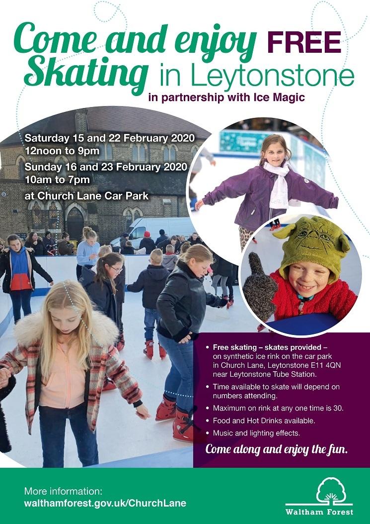 Church Lane ice skating poster