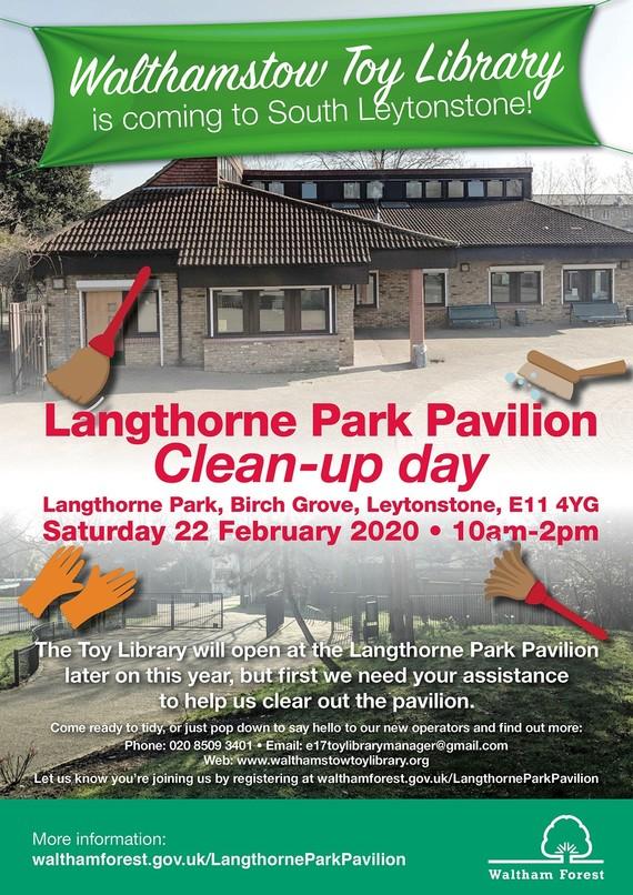 Langthorne Park clean up poster