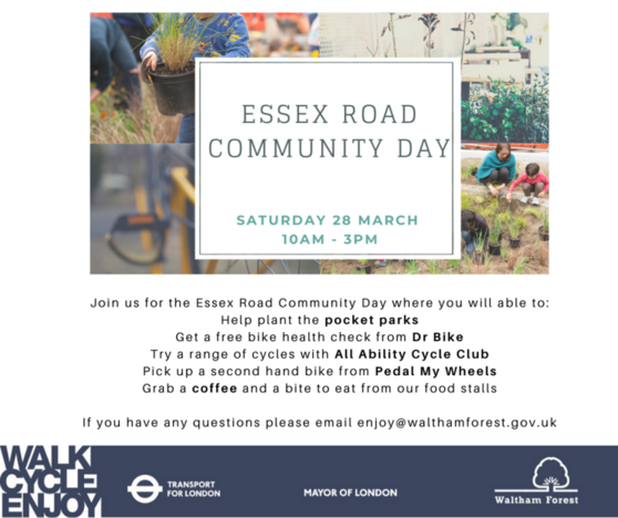 Essex Road Community Day poster 280320