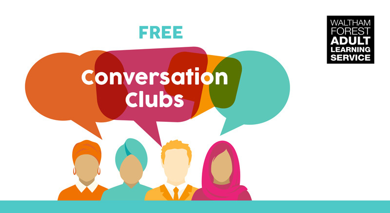 Conversation clubs poster detail crop