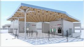 Lea  Bridge Station entrance 230620