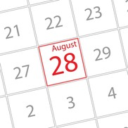 calendar 28 August