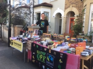 St Andrews Church Leytonstone Fairtrade market stall