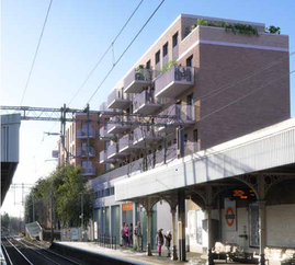 Proposed view from Highams Park Station 480 Larkshall Road