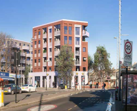 Proposed view towards the site from Winchester Road 480 Larkshall Road