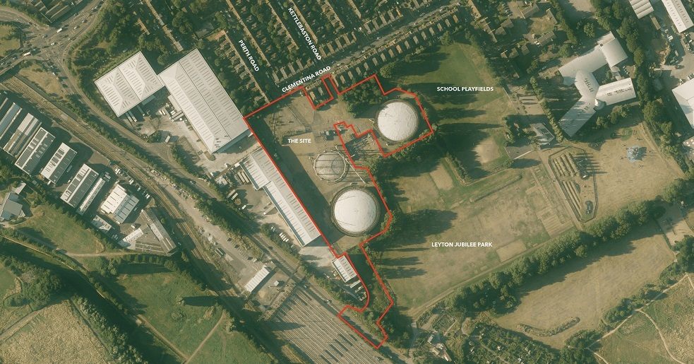 Lea Bridge Gasworks amended red line plan 011220