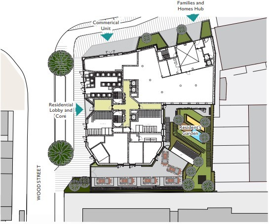 Ground floor plan for the Families and Homes Hub