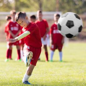 Child footballer