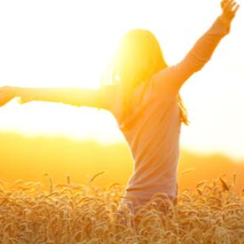 Wellbeing - woman in field