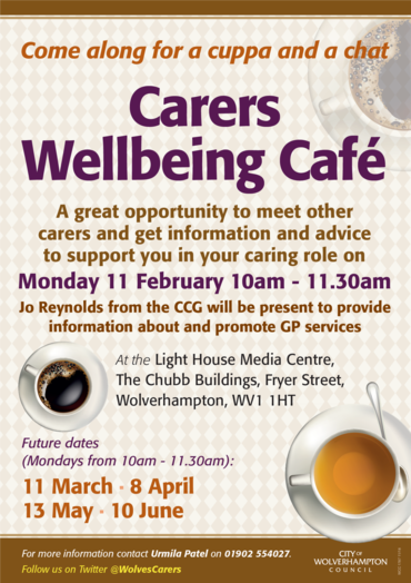 Carers cafe Feb 2019