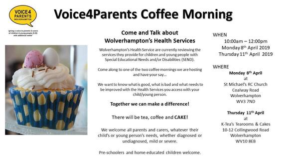 V4P Coffee Mornings April