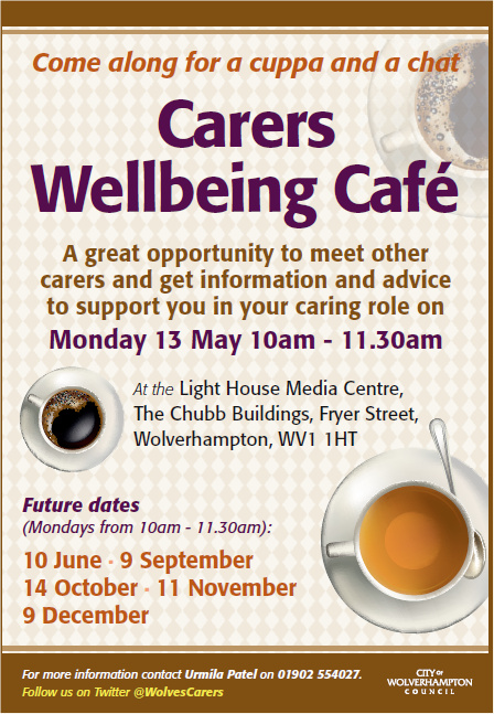 Carers Cafe May 2019