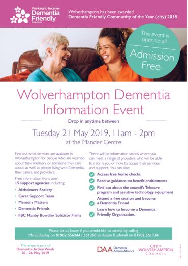 Dementia Awareness Week 2019