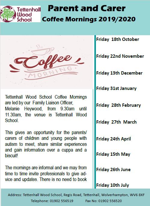 Tettenhall Wood Coffee Mornings 2019-2020