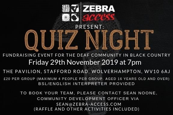 Zebra Access Quiz Night