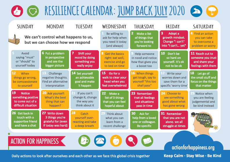 AFH Calendar July 2020