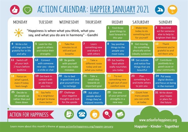 Action for Happiness January 2021