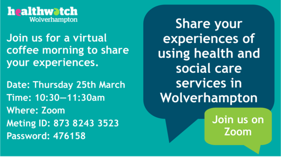 Healthwatch coffee morning March 21