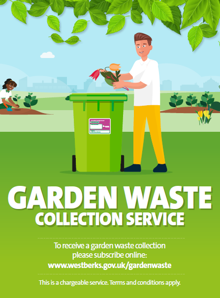 A man putting garden waste into a bin