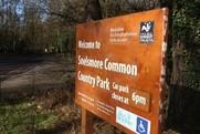 Snellsmore Common park sign