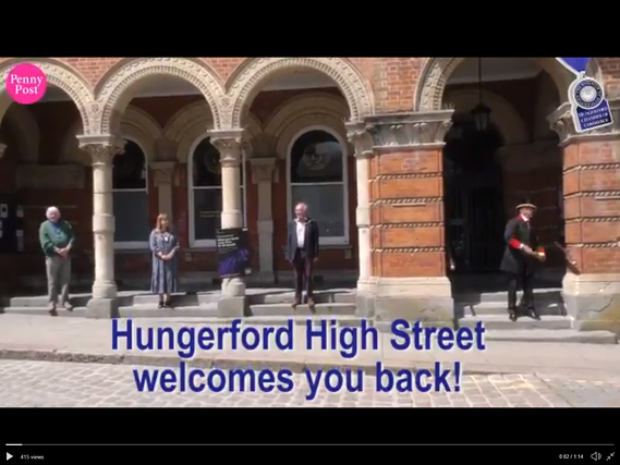 Still images from Hungerford Town Centre Penny Post Video