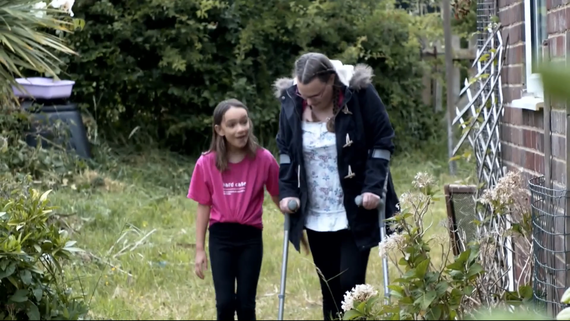 Young Carer Isabella and her mum