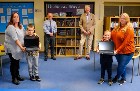 Extra funding for laptops for disadvantages students taken at Hungerford Primary School