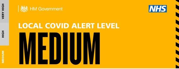 Medium Covid Alert Banner only