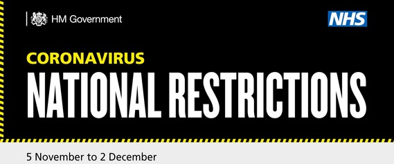 National Restrictions Banner with Date