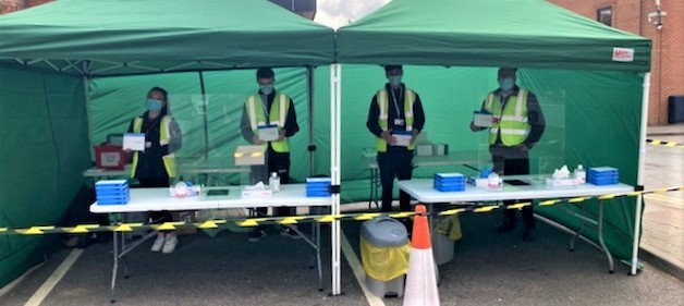Hungerford Mobile Testing site