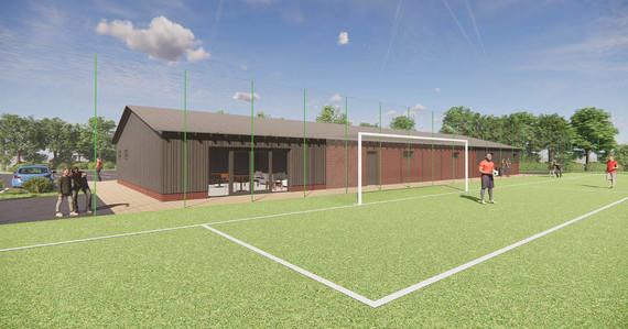 Newbury Sports Hub - club house and pitch