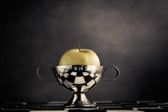 A green apple for the winner