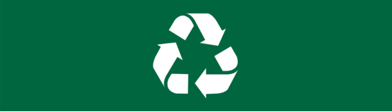 A recycling icon