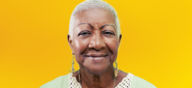 Age Well Campaign Image - lady on yellow background
