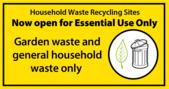 garden waste only sign