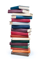 Larger pile of books
