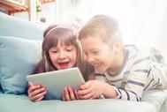 Children using tablet
