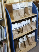 Library reservations in paper bags
