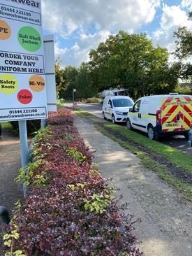 Burgess Hill business park after flood prevention works