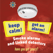 keep calm smoke alarm
